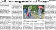 WLZ: Wildtiermanagement auf Abwegen
